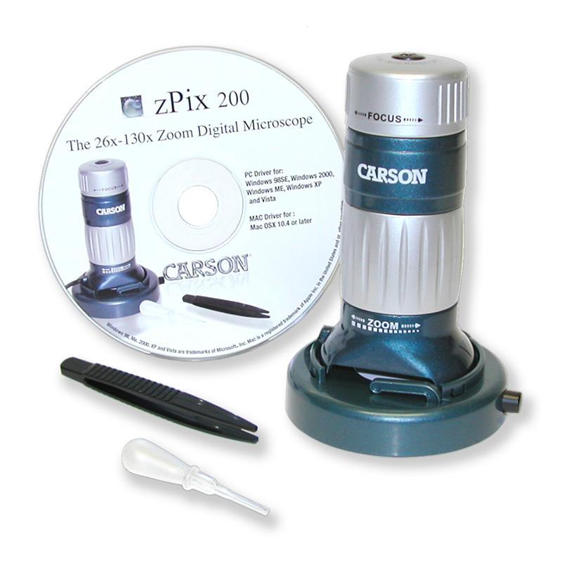 Carson Mm 740 Zpix Zoom Digital Microscope 26x 130x