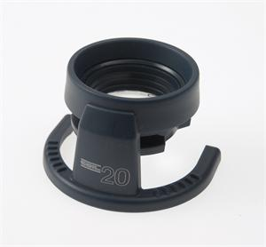 Coil 4220 Adjustable Focus Stand Magnifier with Bi-Aspheric 20X Magnification Lens.